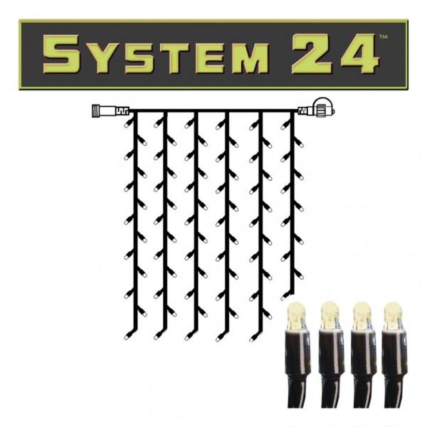 System 24 | LED-Lichtvorhang | koppelbar | exkl. Trafo | 1.00 m x 2.00m | 98x Warmweiß