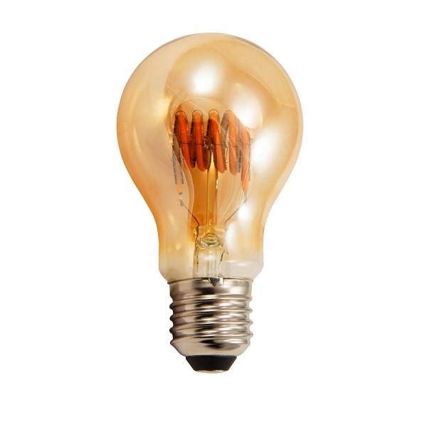 LED Tropfenlampe RETRO-GOLD-Filament - E27 - 6W - 420lm - 2200K