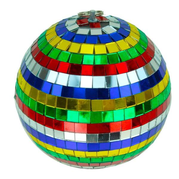Spiegelkugel 15cm - mehrfarbig - Diskokugel Echtglas - 10x10mm Spiegel - DEKO Serie
