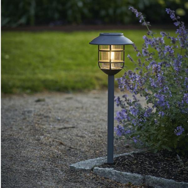 LED Solar Wegleuchte Filippa - Edelstahl - warmweiße LED - H: 50cm - Dämmerungssensor - anthrazit