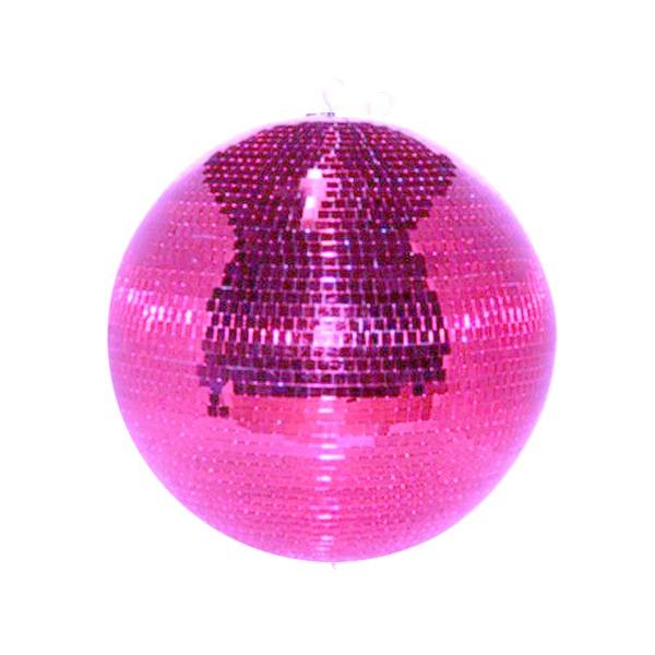 Spiegelkugel 50cm pink rosa purple- Diskokugel (Discokugel) Party Lichteffekt - Echtglas - mirrorball safety pink color