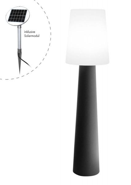 """Outdoor XL Stehlampe No. 1 """"Anthrazit"""" H:160cm - Solar LED warmweiß - Außenleuchte IP44"""