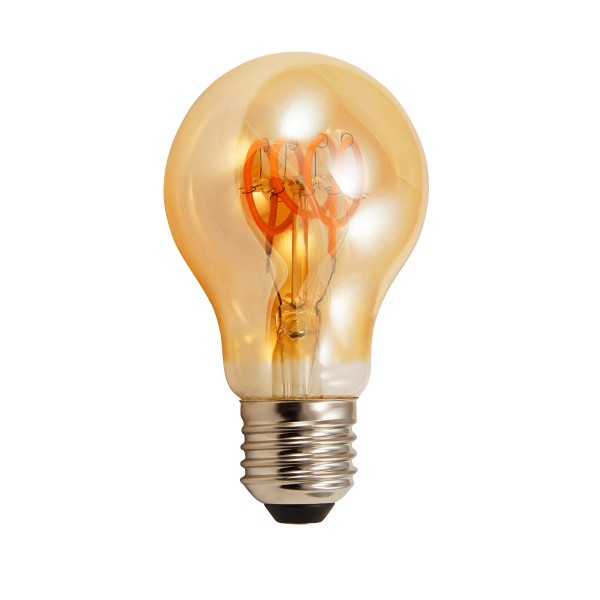 LED Tropfenlampe RETRO-GOLD-Filament - E27 - 4W - 280lm - 2200K