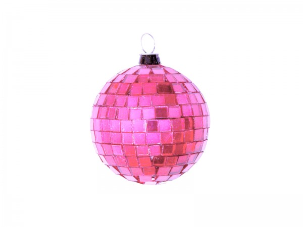 Spiegelkugel 5cm pink- Discokugel Echtglas zur Dekoration
