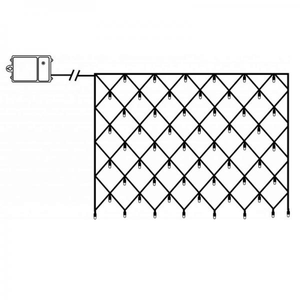 LED-Lichternetz - Dura Line Outdoor - Batteriebetrieb - Timer - 0,80 x 1,35m - 80x Warmweiß - Transparent