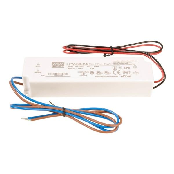 LED Netzteil / Treiber MEANWELL LPV-60-24 - CV - IP67 - 24V - 60W