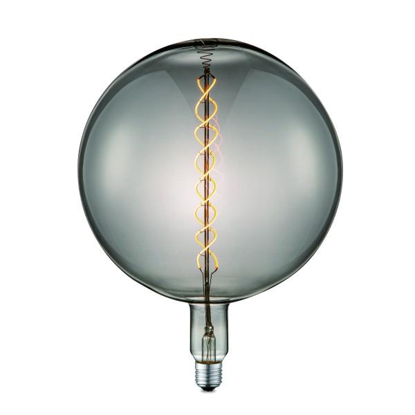 Designleuchtmittel NOVA G260 smoke - LED Filament - 2200K - E27 - 120lm - dimmbar - D: 26cm