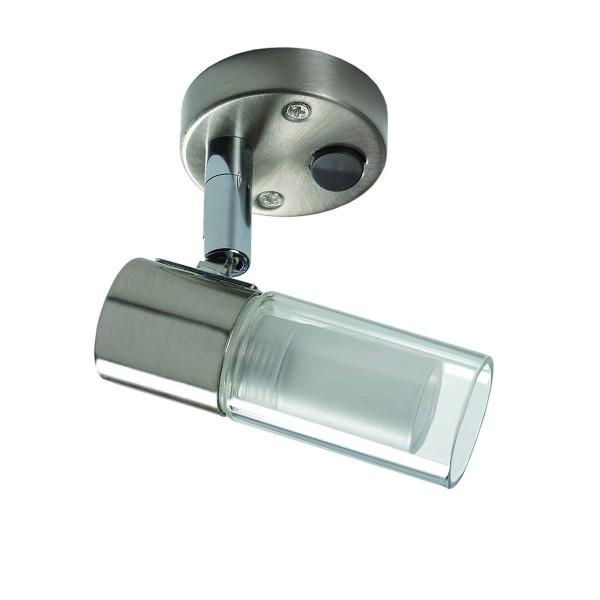LED Aufbauspot 12V - NITRO II - dreh- & schwenkbar - Stahl & Glas - 180lm - 4000K - Schalter