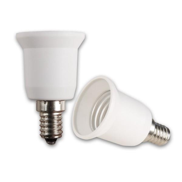 Lampensockel Adapter für Leuchtmittel - max 100W - E14 auf E27