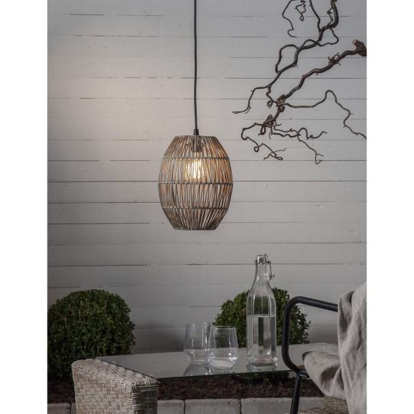 Dekoleuchte/Lampenschirm - D: 24cm, H: 30cm - für E27 Fassungen - outdoor - beige
