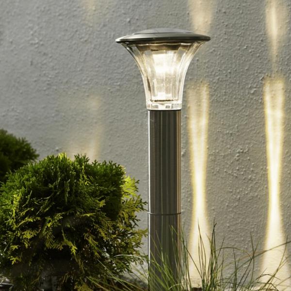 """LED Solar Wegleuchte """"Nice"""" - Edelstahl - warmweiße LED"""