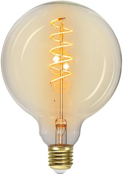 Leuchtmittel   LED   Filament   SPIRAL   E27   Dimmbar   Kugel   Ø125mm   Amber Glas