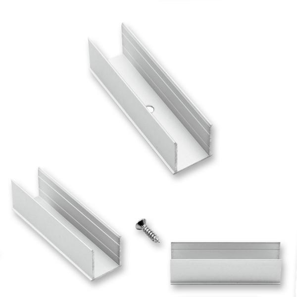Aluminiumkanal 5cm - LED NEON FLEX 230V SLIM - zum Montage - 1,5x1,5cm