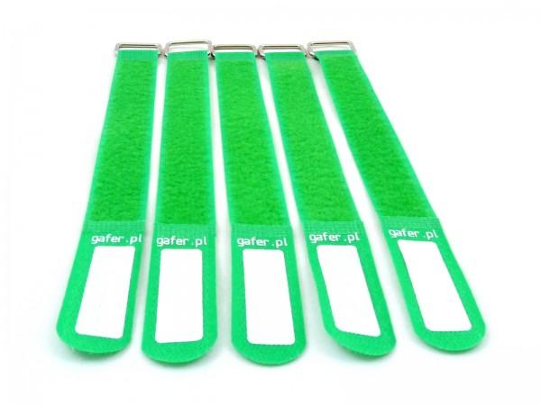 Kabelbinder Klettverschluss 25x400mm 5er Pack grün