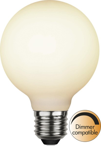 LED DEKO Leuchtmittel - OPAL - soft-touch - E27 - D: 80mm - 5W - 2600K - 400lm - dimmbar