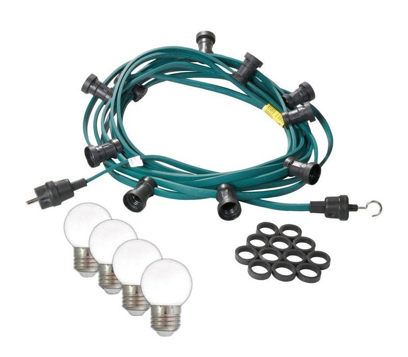Mit kaltweißen LED Kugellampen