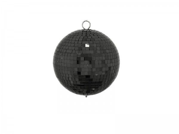 Spiegelkugel 15cm farbig schwarz- Diskokugel (Discokugel) zur Dekoration - Echtglas - mirrorball black