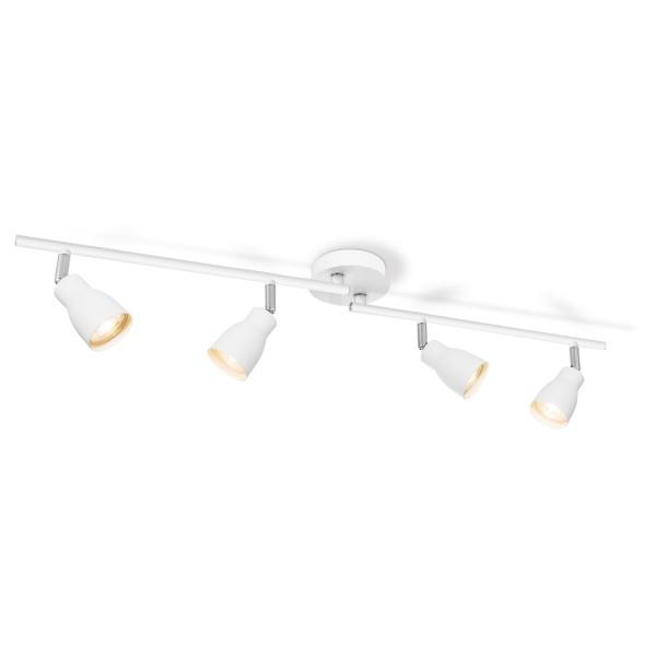 Deckenspot / Deckenbalken ALBA weiß - 4fach - inkl. GU10 LED Leuchtmittel