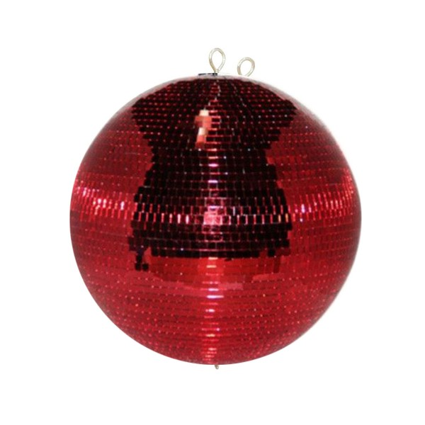 Spiegelkugel 50cm rot- Diskokugel (Discokugel) Party Lichteffekt - Echtglas - mirrorball safety red color