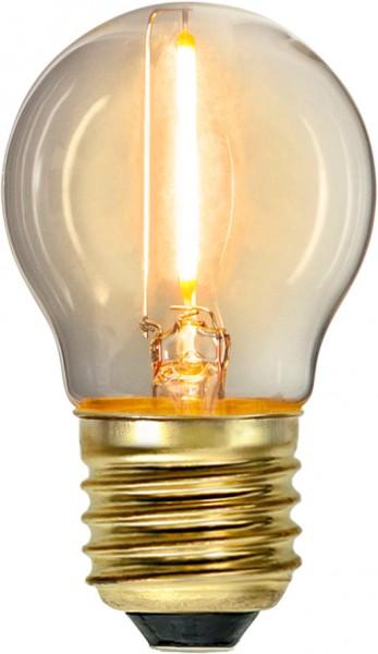 LED Leuchtmittel FILA GLOW - G45 - E27 - 0,8W - warmweiss 2100K - 70lm - klar