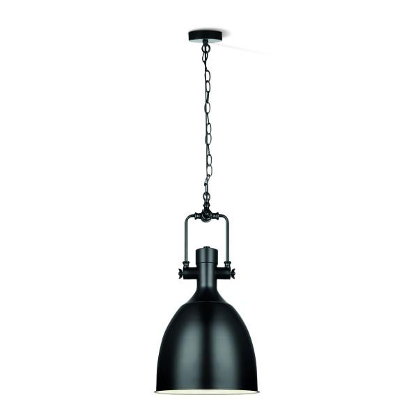 Hängelampe DIVE 29 matt schwarz - industrielles Design - E27 Fassung - D: 28,5cm