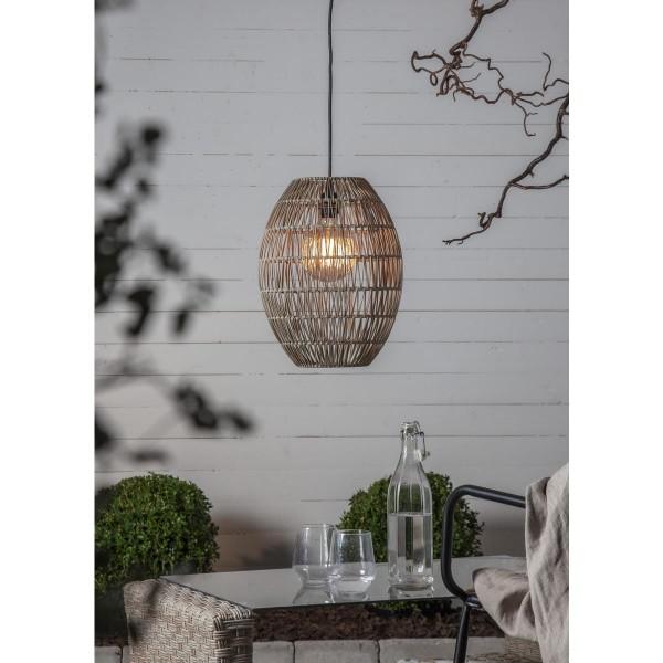 Dekoleuchte/Lampenschirm - D: 30cm, H: 40cm - für E27 Fassungen - outdoor - beige